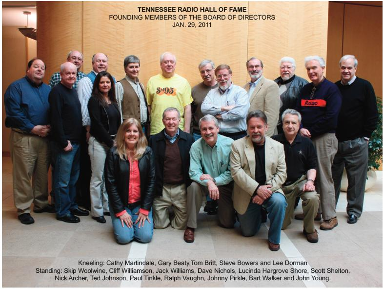 The inaugural board of directors for the Tennessee Radio Hall of Fame.